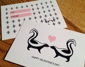 Valentine - Woodland Love Skunks