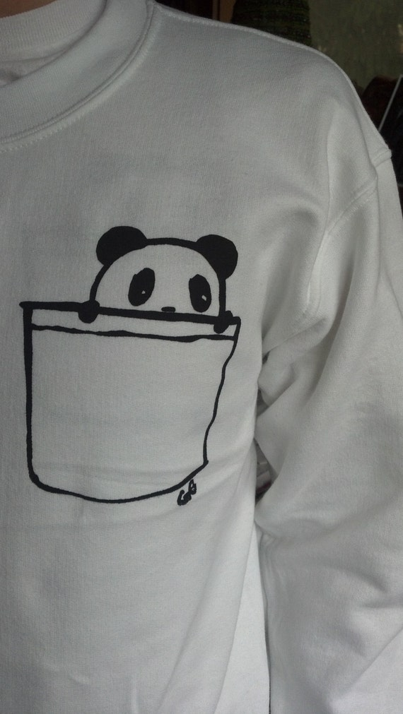 Panda Pocket Crewneck Sweater