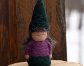 "Needle felted Gnome- ""Wildflower Gnome"""