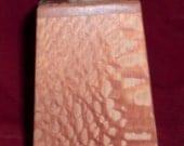 CLEAREANCE SALE Leopard Wood Obelisk Bank