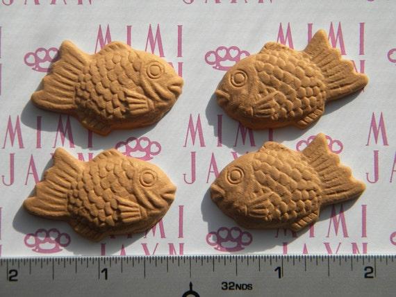 Kawaii Miniature Polymer Clay Taiyaki Cookie Flatbacks
