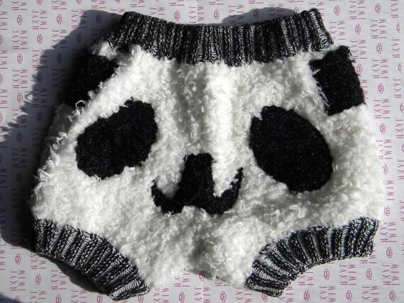 Kawaii Panda Knit Shorts (XS-M)