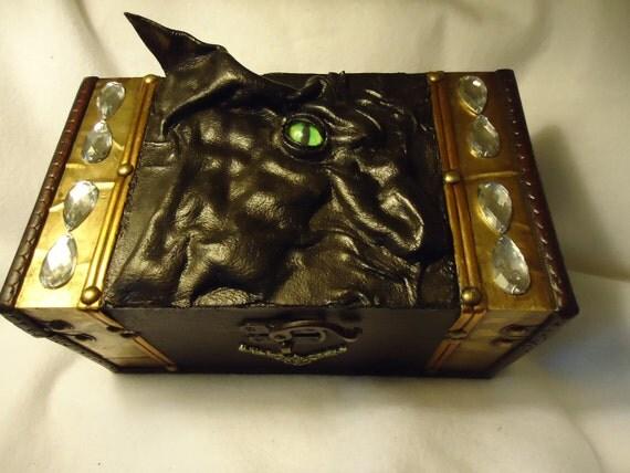 Dragon Storage Treasure Box Desk Organizer Witch Wiccan Pagan