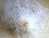 CUSTOM ORDER RESERVED for Marcela- Double layed illusion tulle with Swarovski Crystals