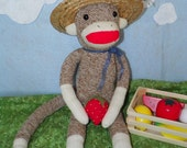 Strawberry Farmer Phil Sock Monkey