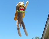 Samson the Dinosaur Superhero Sock Monkey