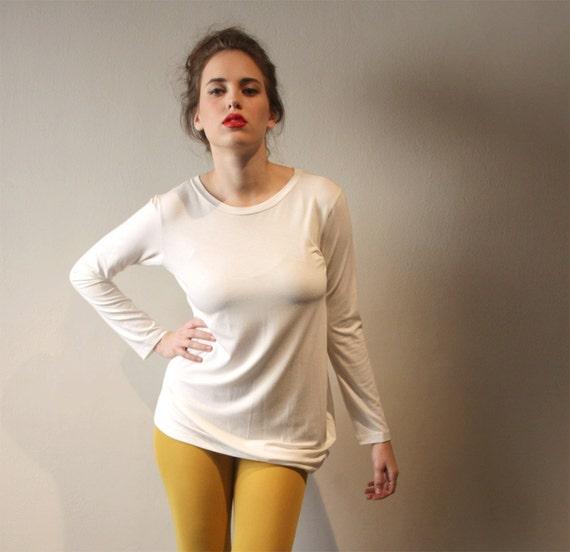 Cream Women Blouse, Cream Tunic, Women Tunic