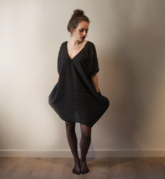 Black Shirt Dress, Women Tunic