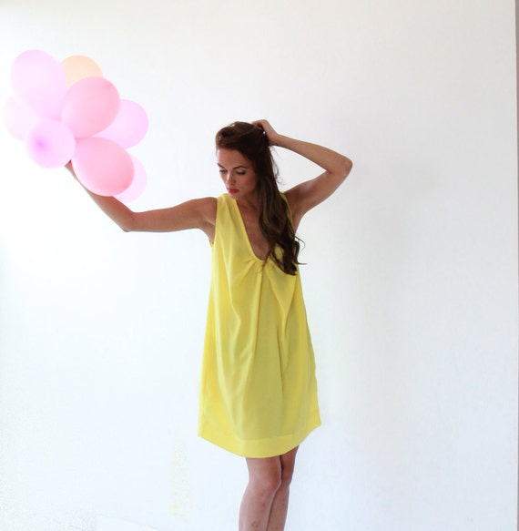 Yellow cocktail sundress dress 50% OFF