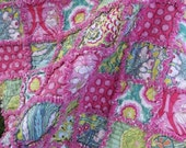 Lap rag quilt - Soul Blossoms by Amy Butler