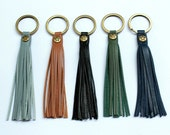 Leather tassel key  chain.