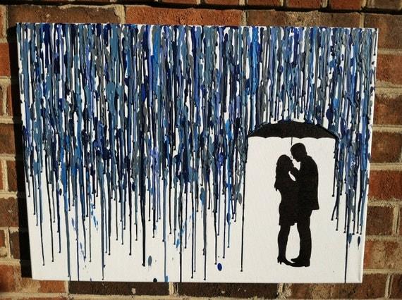 il 570xN 298747557 jpgCouple Silhouette Umbrella Crayon Art