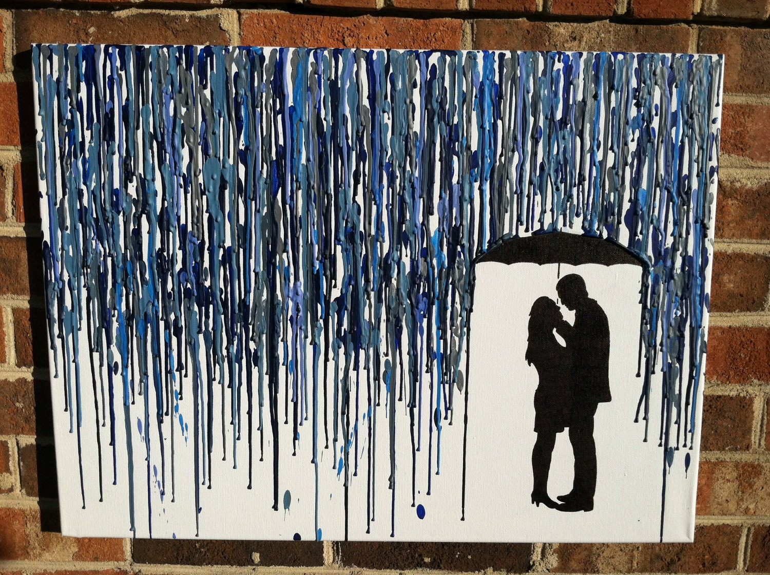 "Crayon Art / Melted crayon Art ""rain and umbrella"" - Pinterest / Home"