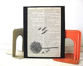 Latin Quote - I Breathe, I Hope - 8x10 Dandelion Art Wall Canvas - Vintage Dictionary Page - FREE Shipping