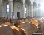 Sing Praise  - 11 x 14 Fine Art Photography - Monastery Choir Stalls Catholic Decor, Gold Sun Oak - FREE SHIPPING - White Barn Art