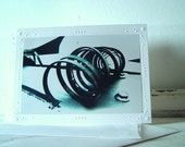 Set of 2 Photo Mount Cards and Envelopes - Modern, Industrial, Metallic, Minimalist, Gray, Black - FREE US SHIPPING - tagt Team