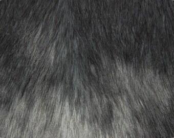 Faux Fake Luxury Shag Fur Fabric Grey 1 Yard