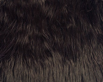 Mongolian Faux Fur Fabric Brown 1 Yard