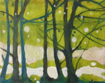 "Original Landscape Painting, Oil On Canvas ""Cotton Mist"" by Michael Broad"