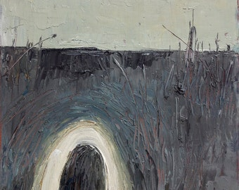 "Original Painting, Oil On Canvas ""Hill Tunnel"" by Michael Broad"