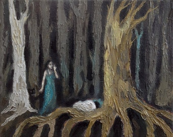 """Original Painting, Oil On Canvas """"The Foundling"""" by Michael Broad"""
