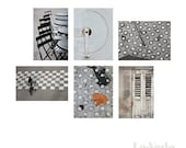 Paris Greeting Card Set Black and White Assorted Notecards Six 6 Blank Cards Travel Photography