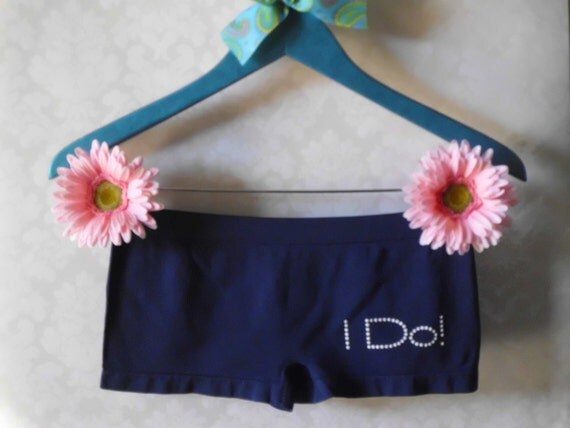 Something blue bridal panties, Navy with white I Do on the right cheek- SALE