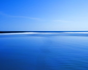 Abstract Beach Photography, Fine Art Photo, Beach Landscape Coastal Photograph, Ocean Waves Blue Wall Art, Seashore Home decor, Abstract Art