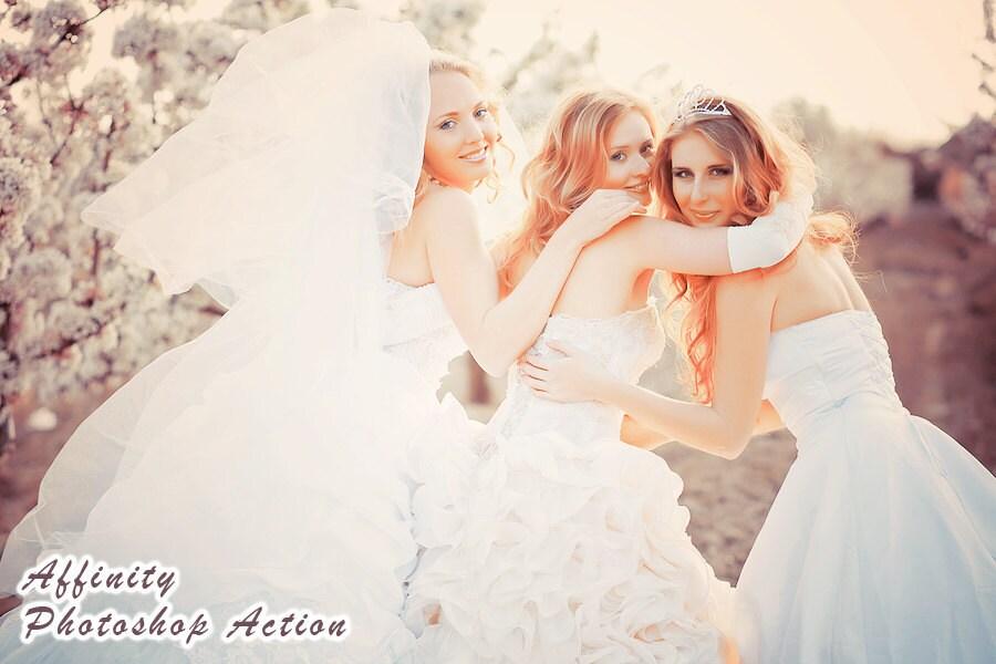 Photoshop Actions Vintage Wedding Photography Photo Editing