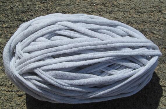 Light Gray T-Shirt Yarn 42 Yards 4.5 WPI