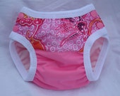 Infant Reusable Cloth Swim Diaper - Pink Batik - Custom Size
