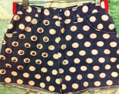 Vintage Polka dot shorts with studs and side cut outs