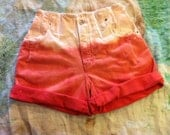 Dip Dyed Coral Salmon Pastel high waist shorts