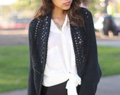 Black long sleeve circle shawl