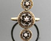 Antique Diamond Ring - Unique Gold and Diamond Ring