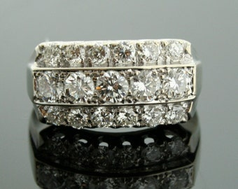 Vintage Wedding Band - Vintage Diamond Ring