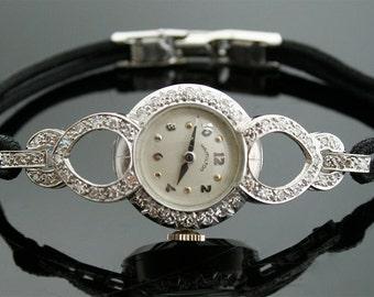 Vintage Hamilton Watch - Diamond and Platinum Watch
