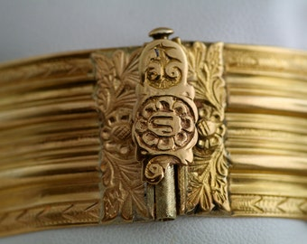 Antique Bracelet - Antique Victorian 22k Yellow Gold Revival Bangle