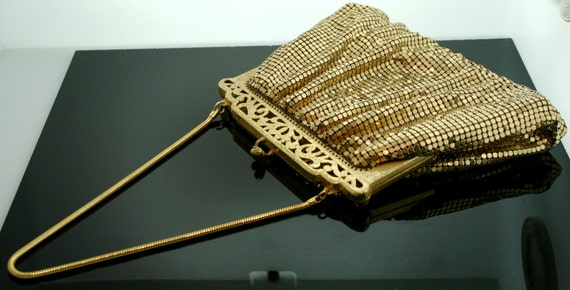 Vintage Whiting and Davis Gold Metal Mesh Purse