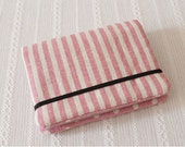 Card Holder, Card Case, Business Card Holder, Credit Card Holder - Pink Stripe