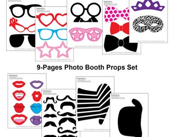 DIY Printable Photo Booth Props Set (34 pcs)