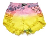 Dip dyed high waist shorts M