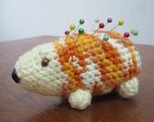 SALE 40% OFF - Creamsicle Hedgehog Pin Cushion
