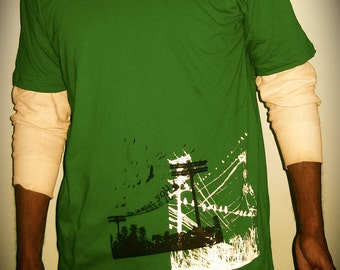 Life is What You Make It- (XL) kelly green fine jersey T-shirt