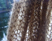 SALE 30% Knit scarf  luxurious mohair brown unisex