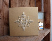 Achillea Snowflake Embroidered Gift Card Box
