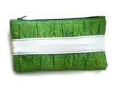 Green Clutch Purse Zipper Pouch - Travel Accessories Cosmetic Makeup Bag