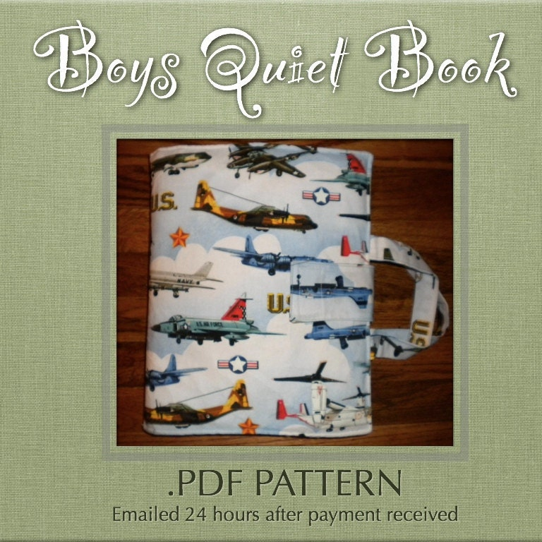 Quiet Book Cover Pattern : Pattern boys quiet book pdf by petersonbecky on etsy