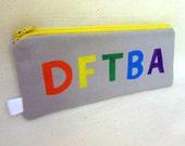 DFTBA Pencil Pouch - Pencil print lining