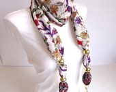 Cotton Scarf,  Women Scarf, Tulip, Purple, Red, White, Green, Mothers day gifts, Spring trends